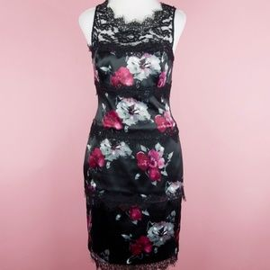 STUNNING White house black market floral lace dres